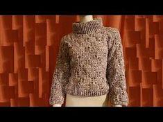 Maglione donna all'uncinetto - crocheted sweater - suéter en crochet. Video Tutorial che descrive, passo a passo, come realizzare un delizioso maglione da do...