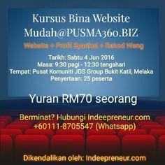 Kursus Bina Website Mudah@PUSMA360.BIZ di Bukit Katil, Melaka!!!  Satu kerjasama padu antara Indeepreneur & Pusat Komuniti JDS Group, Bukit Katil Melaka.  Bersama membawa usahawan ke pentas dunia!  #Indeepreneur #ANewBeginning #Entrepreneur #AwanBiru #PUSMA360 #UrusProgram #KemCeoMuda #KabilahAwanBiru #Software #Developer #Expert #Passion #Genuine #Belajar #Online #Website #Mudah #Fokus #Study #Mentoring #RekodWang #Bisnes #ProfilSyarikat
