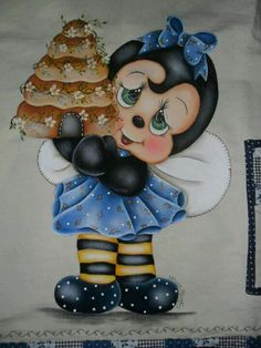Abejita con pastel