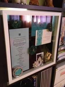 wedding shadow box- I need to do this so I can display what has been packed in boxes all these years!