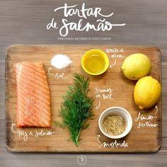 A verdade é que se você resolveu gastar seu rico dinheirinho num salmão e adora um peixinho cru, você não é obrigado a colocar ele no forno, não! Faça esse tartar facinho e seja feliz. Veja aqui a receita.