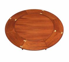 View this item and discover similar dining room tables for sale at - Rare round flip-top leaves dining table expands to round top table. Round Dinning Table, Teak Dining Table, Modern Dining Room Tables, Square Dining Tables, Kitchen Tables, Hans Wegner, Arne Jacobsen, Table Furniture, Furniture Design
