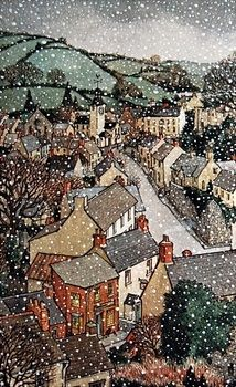 "Trina Schart Hymans | Illustration for ""A Child's Christmas in Wales"" by Dylan Thomas"