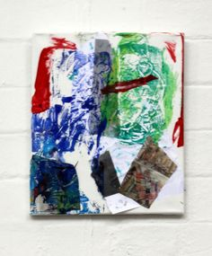 Art class at 3 House Club, London - collage created by one of the children- inspired by the artworks of Robert Rauschenberg. Children combined collaging with monoprinting techniques ( reference: http://www.tate.org.uk/art/artists/robert-rauschenberg-1815