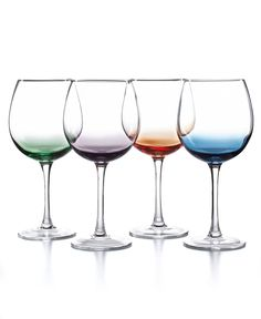 The Cellar Set of 4 Assorted Color Wine Glasses - Shop All Glassware & Stemware - Dining & Entertaining - Macy's