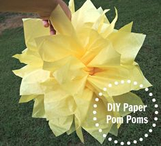 how to make a tissue paper pom pom.  Easy step by step pictures.
