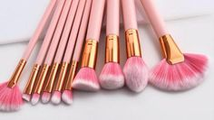 Pink Makeup, Cute Makeup, Simple Makeup, Natural Makeup, Makeup Brush Holders, Makeup Brush Set, Best Makeup Brushes, Best Makeup Products, Intense Eye Makeup