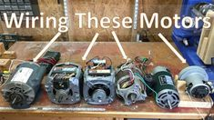 How To Wire Most Motors To Build Shop Tools, Blower motor, Washing machine, and DC Home Electrical Wiring, Electrical Projects, Electrical Engineering, Wood Tools, Diy Tools, Farm Tools, Metal Tools, Diy Electronics, Electronics Projects