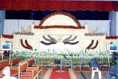 Bangalore Stage Decoration – Design #385   flower decoration services, venue decoration services, wedding stage decoration, car decoration, balloon decoration, a1 wedding stages, stage arrangements, wedding stage decoration photos free download