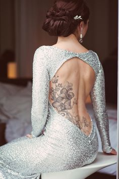 """Goal: Once I achieve my health, wellness, & fitness goals, and get down to my ideal size/weight, I want to celebrate my body by expanding my current tattoo into a full, organic-inspired back piece that travels up my spine and side, and marks key moments in my life.""""-beautiful!!"""