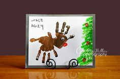 Would be a great card idea for the grandparents Preschool Christmas Crafts, Classroom Crafts, Christmas Activities, Preschool Crafts, Holiday Crafts, Reindeer Handprint, Reindeer Craft, Handprint Art, Christmas Love