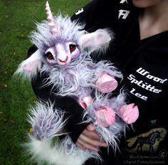 Handmade baby violet unicorn plush. By Wood-Splitter-Lee.  http://wood-splitter-lee.deviantart.com/