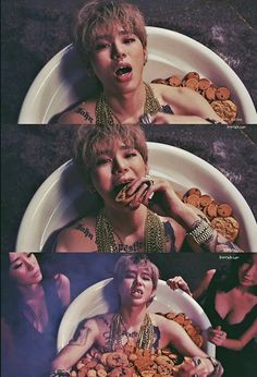 Lmao this is so hilarious but sexy! He's literally in a bathtub full of cookies XD || Zico Tough Cookie