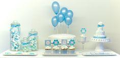Blue Dessert Table by Piccoli elfi  www.piccolielfi.it