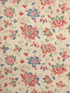 Vintage French fabric Indienne design cotton ~ | eBay