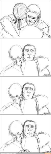 Edward an Haytham Kenway hugging. So cuuuute ♡: