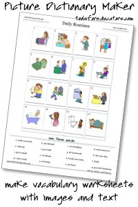 Free word bank worksheet maker, writing and spelling worksheet ...