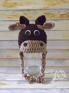 Moose Tracks -Toddler/Child Earflap Hat - Made to Order. $22.00, via Etsy.
