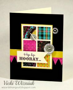A cute birthday card using the CTMH Laughing Lola paper packet, and the Card Chatter Birthday stamp set.  by Vicki Wizniuk
