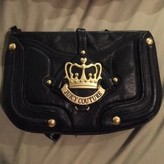 """Juicy Couture Clutch Lightly used juicy clutch. There's a few marks shown in the pictures. Good condition . Pocket in the back. Inside good condition. 8""""x5"""" Juicy Couture Bags Clutches & Wristlets"""