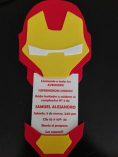 Invitacion avengers