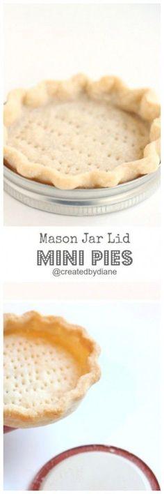mason jar lid mini pies