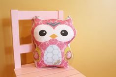 stuffed OWL PETUNIAS' Owl Pillow doll toy toddler baby kid child plush softie gift photo prop room decor unique cute present on Etsy, $16.50