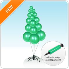 Lacking storage space? What about a deflatable inflatable tree? Inflate the Balloon Tree when you need it, deflate to store.