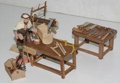 banco y herramientas de carpintero