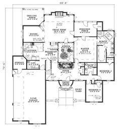 French provincial  House plans and French on PinterestVolterra Mediterranean Home First Floor from houseplansandmore com