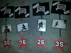 Hockey Hotel Door Signs that could be used as the Senior Posters. Then we could hang on the glass? Hockey Crafts, Hockey Decor, Hockey Room, Youth Hockey, Hockey Girls, Hockey Teams, Ice Hockey, Hockey Stuff, Boys