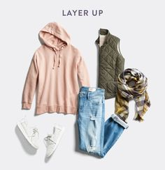 Wear light wash jeans in winter. Like the vest & jeans & scarf! Really, like the entire outfit!!!