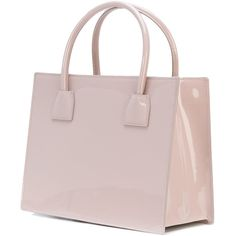 M2malletier small top handles tote ($1,647) ❤ liked on Polyvore featuring bags, handbags, tote bags, patent leather handbags, nude purses, pink tote bags, nude handbags and top handle handbags