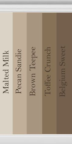 brown collection - Behr, for that inevitable bathroom redo