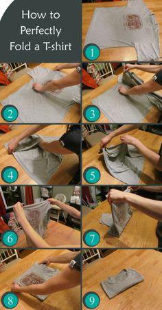 How to perfectly fold a t-shirtVia
