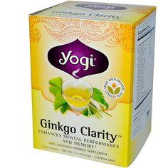 Yogi Tea, Ginkgo Clarity, Caffeine Free, 16 Tea Bags, 1.12 oz (32 g) - iHerb.com. Bruk gjerne rabattkoden min (CEC956) hvis du vil handle på iHerb for første gang. Da får du $5 i rabatt på din første ordre (eller $10 om du handler for over $40), og jeg bl
