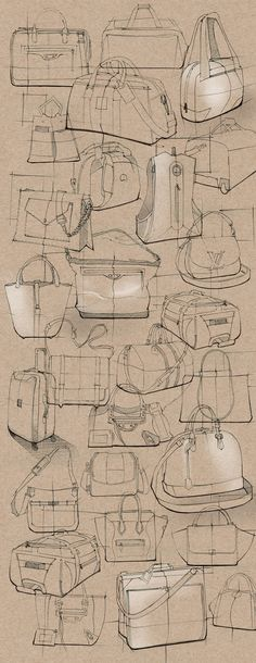 SKETCHBOOK-Sketches on Behance Clear & Economical use of contour line. Smart use of white chalk & simple hatching to indicate 3D form