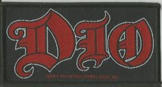 DIO Logo Woven Patch Sew On Official Band Merch