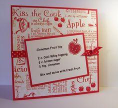 Cinnamon Fruit Dip recipe card