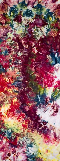 What beautiful vivid colours this fabric has, this would make a great dress #HandDyed #Fabric by DreamCloths