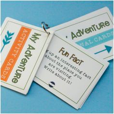 My Adventure Travel and Learn Activity Cards: Kids going on vacation? Pack some fun travel-themed learning! $