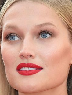 Close-up of Toni Garrn at the 2016 Cannes premiere of 'Loving'.