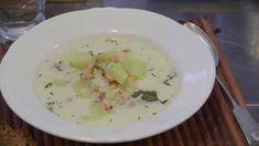 Kylmäsavulohikeitto - Reseptit - Ilta-Sanomat Potato Salad, Potatoes, Ethnic Recipes, Food, Potato, Essen, Meals, Yemek, Eten