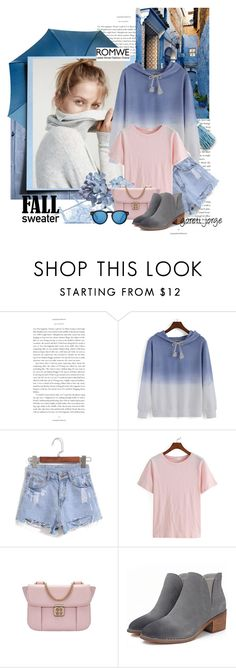 """Fall Sweatershirt - Romwe"" by goreti ❤ liked on Polyvore featuring Illesteva"