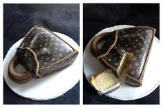 Isn't this the most fantastic cake idea for a LV fanatic?