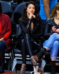 Jenner with leather