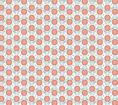 Tissu PD 50x70 cm Retro flower red couture patchwork loisirs créatifs