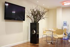 Dark Planter used within light environment; works well as a focus piece
