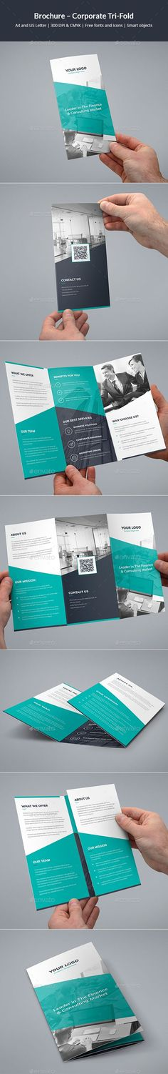 Brochure – #Corporate Tri-Fold - Corporate #Brochures Download here: https://graphicriver.net/item/brochure-corporate-trifold/20133824?ref=alena994