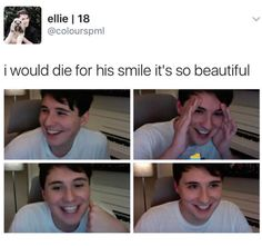 his happiness gives me life especially when i see his old videos and see how much happier he seems now
